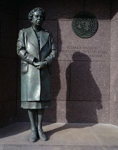 Hayden's favorite historical figure: Eleanor Roosevelt.  Statue of First Lady Eleanor Roosevelt at the Franklin Delano Roosevelt Memorial, Washington, D.C.  Photo by Carol M. Highsmith, [between 1980 and 2006]. Carol M. Highsmith Archive, Library of Congress Prints and Photographs Division.