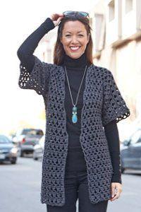 Caron International | Free Project | Perfect Office Crochet Jacket