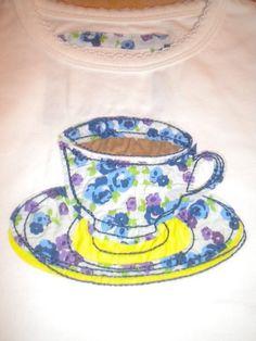 applique idea - teacup