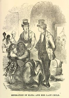 SEPERATION OF ELIZA AND HER LAST CHILD. Solomon Northup, b. 1808. From Twelve Years a Slave: Narrative of Solomon Northup, a Citizen of New-York, Kidnapped in Washington City in 1841, and Rescued in 1853.