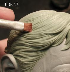 Sculpting Tutorials: Casteline Hair Sculpting Tutorial by Andy Bergholtz Art Clay, Polymer Clay Crafts, Sculpture Techniques, Ceramic Techniques, Sculptures Céramiques, Sculpture Clay, Horse Sculpture, Sculpting Tutorials, Clay Figures