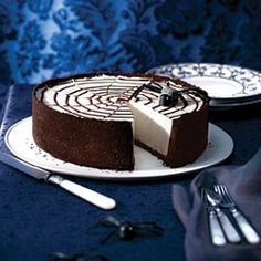 No-Bake Spiderweb Cheesecake Recipe | Martha Stewart