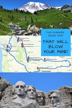 Summer Road Trip Idea # Passing through thirteen states, thirteen national parks and two Canadian provinces, this epic summer road trip will blow your mind. Get on the road and explore! Road Trip Usa, West Coast Road Trip, Road Trip National Parks, Oregon Coast Roadtrip, National Park Pass, Route 66 Road Trip, Road Trip Packing, Usa Trip, National Parks Usa