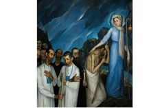 Nacido en Durango en 1886, Ángel Zárraga fue un artista muy internacional no sólo porque vivió alrededor de 35 años en Francia, sino porque su obra fue vanguardista, con muchas evoluciones y con un gran interés por investigar y trabajar en torno de las formas. En la imagen, la pieza 'Peregrinación, Toledo' (1910).. (Foto: Cortesía INBA )