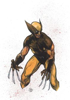 Wolverine (Brown suit) by Travis Charest , in T Tad's Lake Como Comic Art Fest 2018 - 2019 Comic Art Gallery Room Wolverine Images, Wolverine Art, Comic Books Art, Comic Art, Book Art, Comic Character, Character Design, Travis Charest, Spirited Art