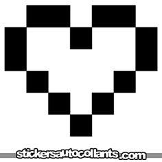 stickers autocollants Coeur pixel