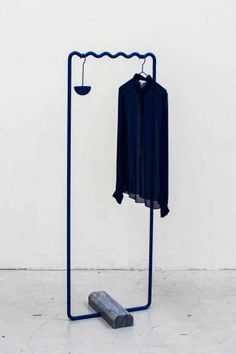 hanging cup bent tube clothes rack