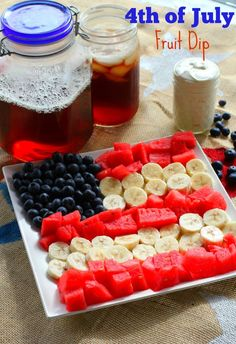 4th of July Fruit Tray and Dip