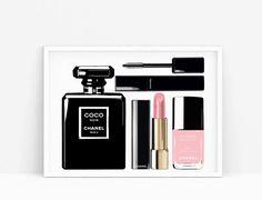 Makeup Printable Chanel. Lipstick Chanel  print. Coco por Byoliart
