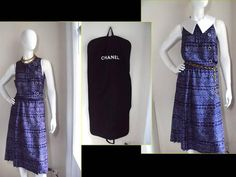 Chanel Numbered Haute Couture Vintage 1960s Classic Wrap Pleated Silk Dress 40 8 | eBay