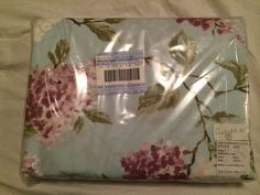 The Company Store King Duvet Cover Persian Lilac 100% Cotton DN51 Blue Purple  #TheCompanyStore