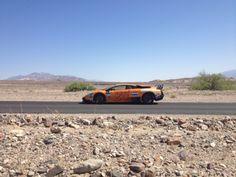 Lamborgini Murcielago SV in the very middle of Death Valley, USA Gumball 3000, Death Valley, Route 66, Santa Fe, Niagara Falls, St Louis, Rally, Kansas City, Detroit