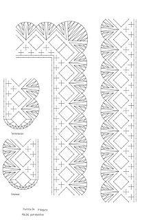 Patrobolillos : PICADOS PUNTILLAS Bobbin Lacemaking, Bobbin Lace Patterns, Crochet Borders, Blog, Brownies, Album, Bobbin Lace, Crocheting, Skittles Game