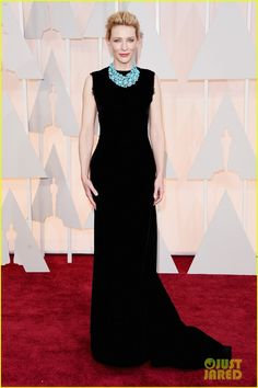 Cate Blanchett in a John Galliano for Maison Margiela dress, Jimmy Choo shoes, and Tiffany & Co. jewels.