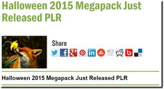 Halloween 2015 Megapack Just Released PLR