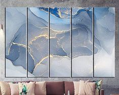 Large Canvas Prints Modern Wall Art for Home & by WALLARTSDECOR Abstract Photos, Blue Abstract, Abstract Canvas, Tree Wall Art, Canvas Wall Art, One And Only, Large Canvas Prints, Oriental, Marble Art