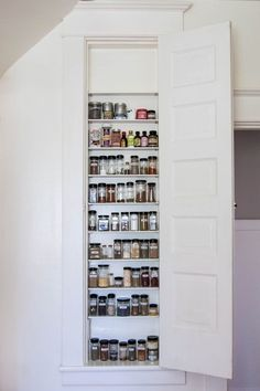 Build A Spice Cabinet In Between The Wall Studs   Hereu0027s How Hidden Cabinet  Hacks Dramatically