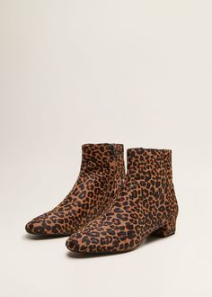 f52fbcd9cf469 Leopard-print leather ankle boots Leo Print, Comment Porter, Ballerina Shoes,  Weekend
