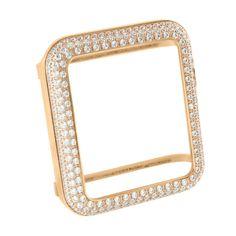 38MM Rose Gold Finish Lab Diamond Apple Watch Bezel | Masterofbling