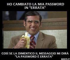 Ho cambiato la mia password Funny Video Memes, Funny Jokes, Hilarious, Funny Photos, Funny Images, Italian Memes, Funny Test, Funny Pins, Funny Moments
