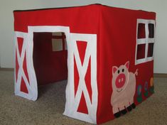 Card Table Playhouse  and top as display for similar books