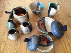 Throwing at the potters wheel and Raku