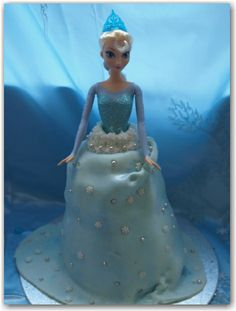 Elsa birthday cake #tutorial