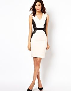 @asos lace overlay pencil dress--great for day to night looks.