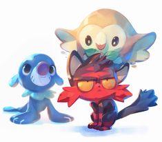Pokemon Sun and Moon Fanart!, Nicholas Kole on ArtStation at https://www.artstation.com/artwork/n63Ro