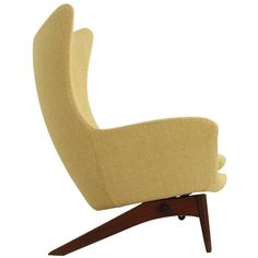 Danish Reclining Wing Chair by H. W. Klein   From a unique collection of antique and modern lounge chairs at https://www.1stdibs.com/furniture/seating/lounge-chairs/