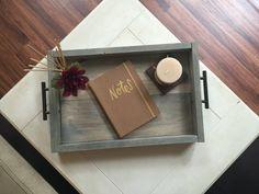magazine tray  decorative tray  coffee table by JustaGirlAndHerSaw