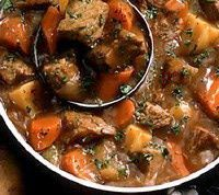 Old Fashioned Beef Stew Recipe - I cannot even describe how amazing this was.... Seriously. I wanted to cry when I was eating it! MUST boil it down for about an hour for the flavor to be incredible. I used marsala cooking wine ($2 at Kroger) and omitted the thyme. I used homemade beef stock, because we keep this on hand. WOW!!! I will make this again and again!