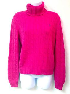 Ralph Lauren Womens Sport Red Crew Neck Short Sleeve Cable Knit ...