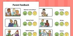 This resource enables you to provide visual feedback to parents who may only speak or understand limited English. It could be used as an alternative way of recording parent evening meetings. Evaluation Form, Co Parenting, Behavior, Language, Science, Writing, Reading, Key, Songs