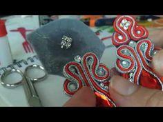 Beaded Chocker, Soutache Earrings, Beaded Jewelry, Shibori, Tutorial Soutache, Jewelry Crafts, Embroidery, Crochet, Elsa