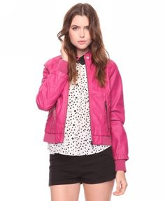 Fuchsia bomber jacket