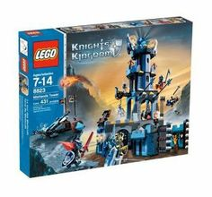 LEGO Knights Kingdom Mistlands Tower by LEGO. $199.95. Includes King Jayko, Lord Vladek, Sir Adric, Karzon, Blacksmith and skeleton minifigures. 431-piece Medieval-themed playset. Constructs a castle tower and mobile catapult. 2 collectable Knight's Kingdom Challenge cards add a new level of fun to the story. Amazon.com                Lego's Knights Kingdom line is a fictitious take on Medieval European history, with a story about a good king defending his people ...