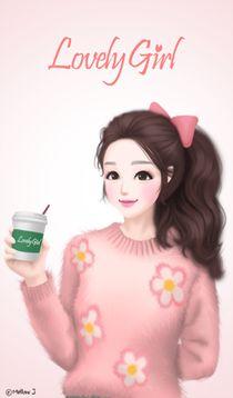 Inspiring image background, lovely girl, wallpaper, Enakei, wallpapers iphone by Bobbym - Resolution - Find the image to your taste Anime Korea, Korean Anime, Korean Art, Cute Girl Sketch, Cute Girl Drawing, Lovely Girl Image, Girls Image, Beautiful Fantasy Art, Beautiful Anime Girl