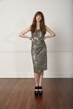 Carlson Legend Dress - Leopard Lurex