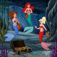 Ariel and sisters