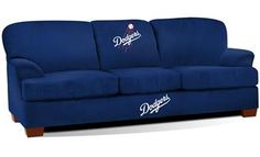 Los Angeles Dodgers First Team Sofa; I definitely need this.