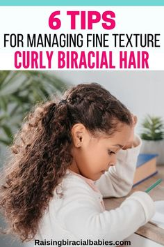 6 Tips For Managing and Enhancing Fine Curly Biracial Hair Tips for how to care for fine, curly biracial hair. The post 6 Tips For Managing and Enhancing Fine Curly Biracial Hair appeared first on Fab. Mixed Curly Hair, Mixed Hair Care, Hair Care Oil, Dark Curly Hair, Diy Hair Care, Curly Hair Tips, Curly Hair Care, Curly Hair Styles, Curly Girl