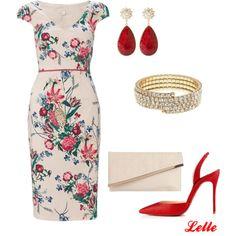 """Monsoon Rosetti Print Dress"" by lellelelle on Polyvore"