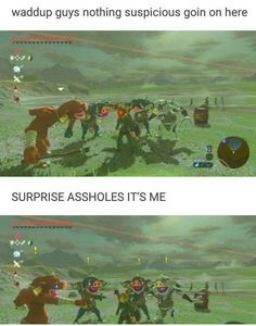 Video game memes 788270741014615322 - I don't even play this but this is still my favorite thing Source by The Legend Of Zelda, Legend Of Zelda Memes, Legend Of Zelda Breath, Geeks, Super Smash Bros, Botw Zelda, Pokemon, Video Games Funny, Link Zelda