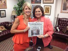 Senator Wendy Davis and Senator Leticia Van De Putte.