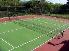 Dit is een tennisveld zo als je het gewoon ziet.