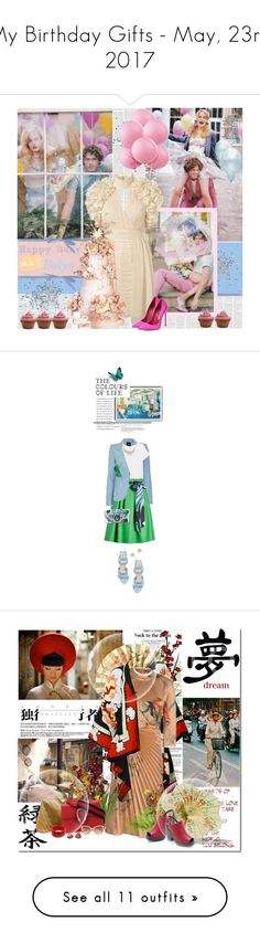 """""""My Birthday Gifts - May, 23rd 2017"""" by fantasy-rose ❤ liked on Polyvore featuring Topshop, Brian Atwood, Smythe, Splendid, Emilio Pucci, Dax Gabler, Talbots, Adina Reyter, Dolce&Gabbana and Michaele Vollbracht"""