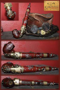 electronic cigarette steampunk vape by Cirdann72