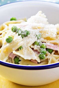 Pea Soup With Pasta And Parmesan Recipe — Dishmaps