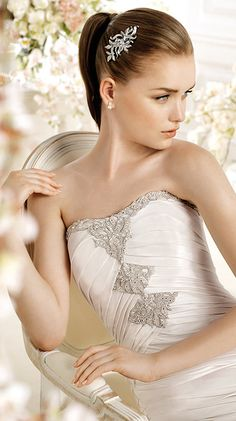 PAULINE / Bridal Gowns / 2014 Collection / Avenue Diagonal (close up)